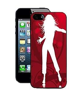 Fuson 2D Printed Dance Designer Back Case Cover for Apple iPhone 5 - D662