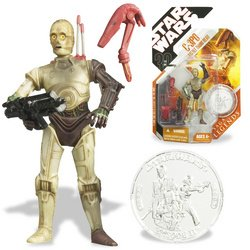 Star Wars:C-3PO with Battle Droid Head and Exclusive Collect