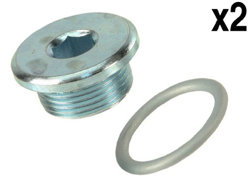 VW Touareg (AXQ) Engine Oil Drain Plug + Seal (x2) (Vw Touareg Engine Parts compare prices)