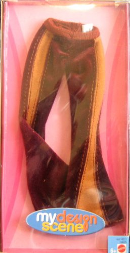 Barbie - My Design Scene Fashion - Brown Bell Bottom Pants (2004) - 1