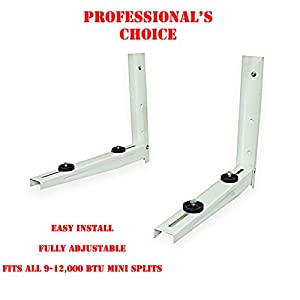 Mini Split Mounting Bracket Universal Powder Coated 7000-12000 Btu from DuctlessAire