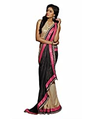 Ethnicity Georgette Black Saree Paired With Blouse SAHWH102