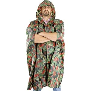 China Made M3785 Swiss Military Surplus Wet Weather Poncho with Camo Heavy Vinyl... by CHINA MADE