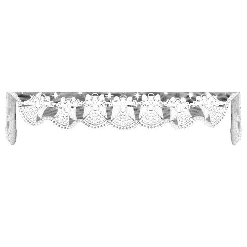 Heritage Lace Glorious Angels 20-Inch by 90-Inch Mantle Scarf, White