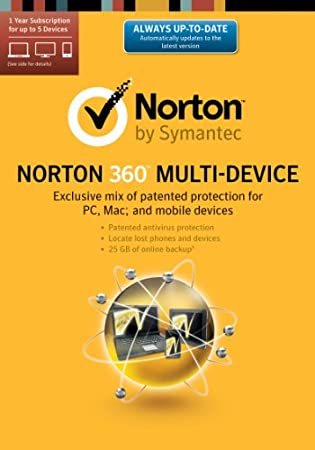 Norton 360 Multi-Device 2014 - 1 User / 5 Licenses [Download]