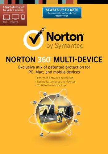 Norton 360 Multi-Device 2014 - 1 User / 5 Licenses [Download]