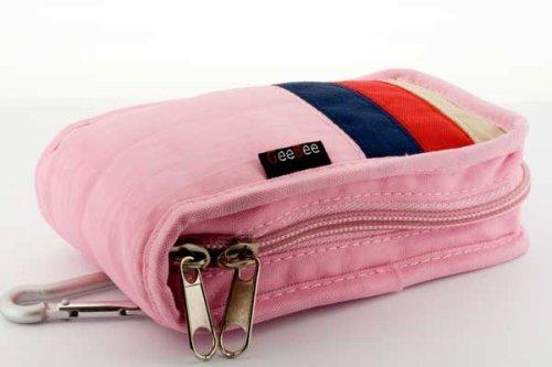 GeeBee (Pink)Olympus mju (FE Series: FE-270 FE-210 FE-170 FE-310/ SP 340 350 Stylus 840 850 1030 series: SP-320 ) Camera case (M) -