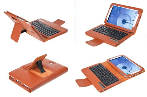 QQ Tech KeyBook Removable Bluetooth Keyboard Case PU Leather