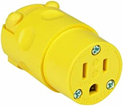 Leviton 660-515CV-0CV 15 Amp Vinyl Connector Grounded 125 Volt Yellow