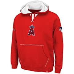 MLB Los Angeles Angels True Leader Hooded Fleece, Red White by Majestic