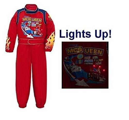 Disney Cars 2 Light up Lightning Mcqueen Halloween Costume Size Large 10