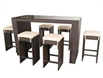 Hot Sale Aliso Creek: 7 piece bar set - Brown