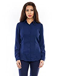 Femninora Women's Shirt (Fem-Tp-045-XL_Dark Blue_X-Large)