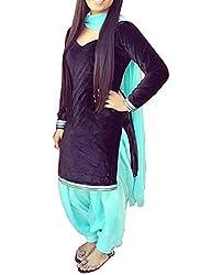 Meet Enterprise Velvet Simple Patiala Salwar Suit