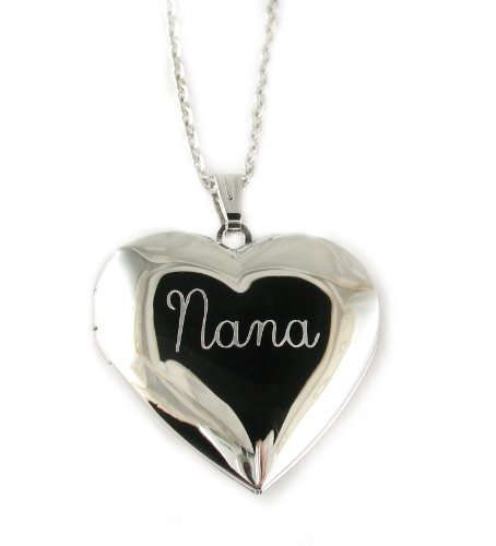 Nana Heart Locket Pendant Necklace 18