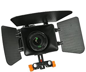 Matte Box for Shoulder Support Rig 15mm rod support follow focus DV GH2 600D MBoxO