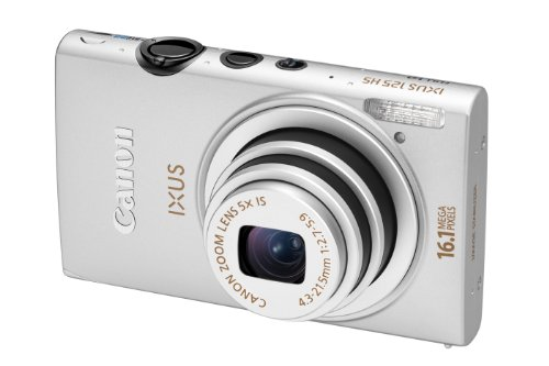 Canon IXUS 125 HS Digital Camera - Silver (16.1MP, 5x Optical Zoom) 3.0 inch LCD