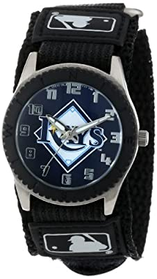 "Game Time Unisex MLB-ROB-TB ""Rookie Black"" Watch - Tampa Bay Rays"