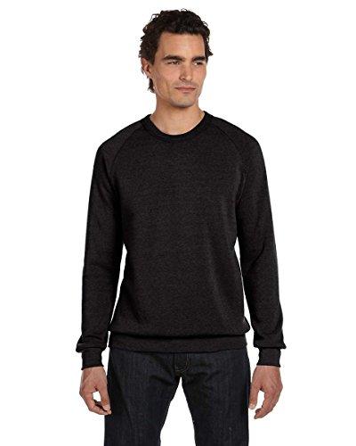 Alternative Apparel Long-Sleeve Basic Fleece Crewneck Sweatshirt, Eco Black, X-Large