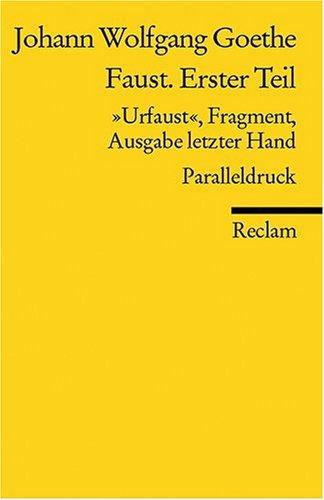 Faust. Erster Teil: