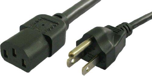 Lynn Electronics 2C13515P10A-25F NEMA 5-15P to IEC 60320-C13  10A/125V 18AWG/3C SJT 25-Feet Power Cord, Black