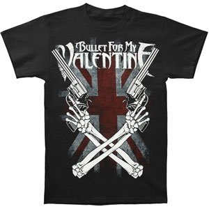 Bravado Bullet For My Valentine Cross Guns T-shirt, Black