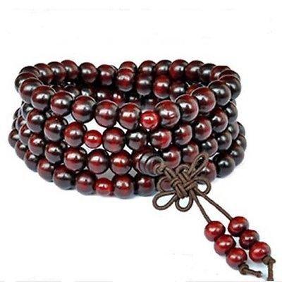 Yosoo? Sandalwood Buddhist Buddha Meditation 6mm*108 Prayer Bead Mala Bracelet/Necklace