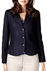 Per Una Pure Linen Ruched Panelled Jacket [T62-0815I-S]