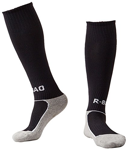 Huathy Children Compression Professional Football Socks Knee-High Cushion Stockings ,Black ,Shoe:13C-3Y (Soccer Shoes Side 13c compare prices)