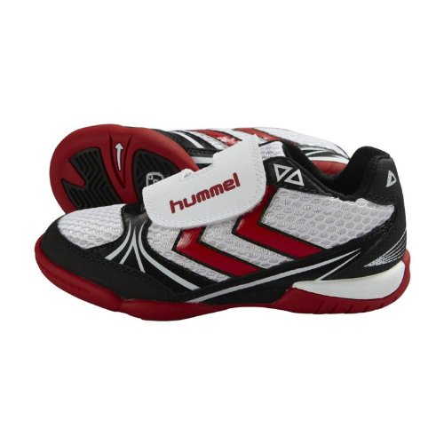 Hummel Handballschuhe Authentic Jr. 60260-9318 29, WHITE/BLACK/RIBBON RED, 29