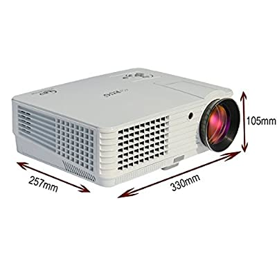IONIUM EUG X660S+ LED 2800 Lumens 720P Home Theater LCD Projector 3D Red Blue Full HD 1080P Support Multimedia...