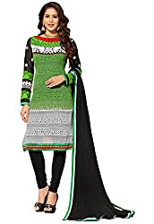 Manvaa Women's Multi Coloured Embroidered Staright Dress Material