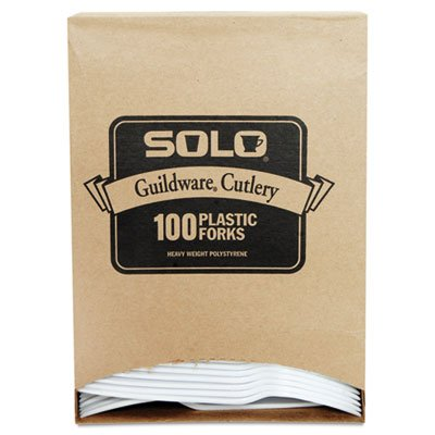 Guildware Extra Heavy Weight Plastic Forks, White, 100/Box, Sold as 1 Box, 100 Each per Box
