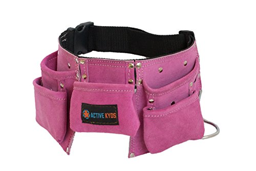 PINK Active Kyds Kids Leather Tool Belt / Tool Pouch for Costumes Dress Up Role Play (Childrens Tool Belt compare prices)