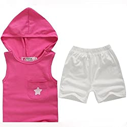 Yistu born Kids Baby Outfits ,Summer Cotton Kids Tops+Pants Outfits Set Clothing Cute Suit
