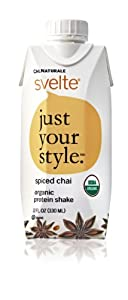 CalNaturale Svelte Organic Protein Drink, Spiced Chai, 11 Ounce (Pack of 8)