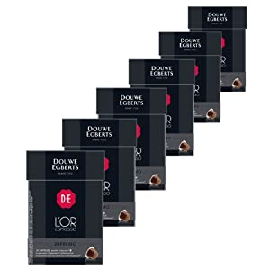 Choose Douwe Egberts L'OR Espresso Supremo, Pack of 6, 6 x 10 Capsules, Nespresso compatible - Douwe Egberts