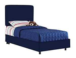 Aaron'S Twin Kids Bed By Skyline Furniture In Navy Cotton