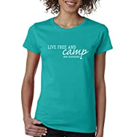 Just Be Tees Women's Live Free and Camp Short Sleeve Tee