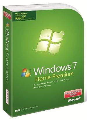 Windows 7 Home Premium アップグレード版 Service Pack 1 適用済み
