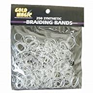 Gold Magic Elastic Braiding Bands, Clear