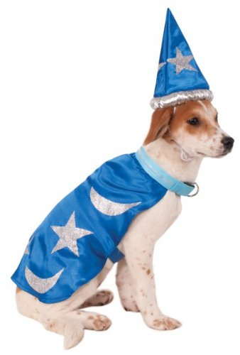 Rubies Costume Company Wizard Cape with Headpiece and Light-Up Collar for Pets, X-Large