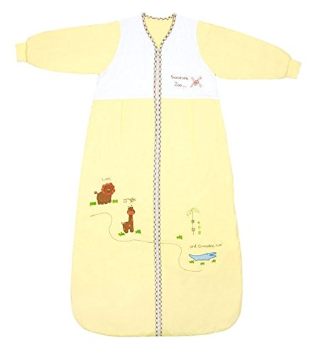 Winter Baby Sleeping Bag Long Sleeves approx. 3.5 Tog - Zoo - 12-36 months/43inch