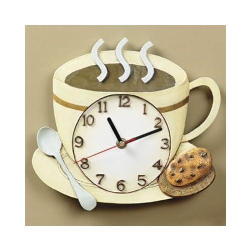 Amazon.com - Coffee Cup Latte Cappucino Kitchen Wall Clock - Coffee Clocks For Kitchen