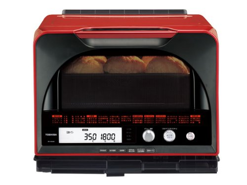 TOSHIBA 過熱水蒸気オーブンレンジ 石窯ドーム 31L レッド ER-HD400(R)