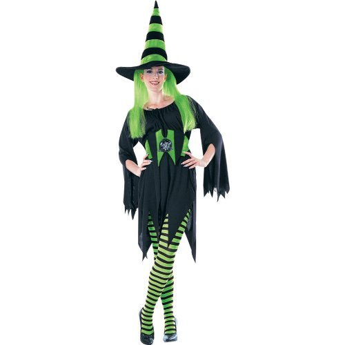 Rubie's Costume Green/Black Striped Tights Costume