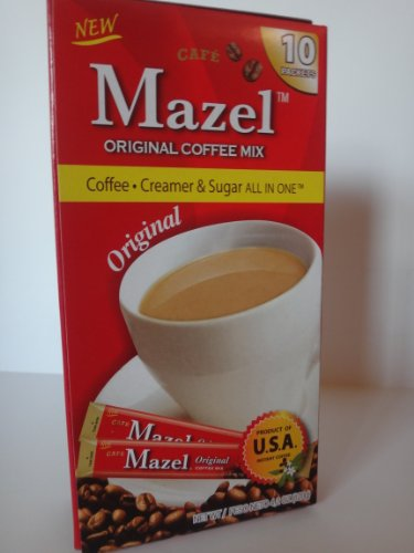 Mazel Original Coffee Mix: Coffee, Creamer & Sugar All In One 3-Pack (30 Packets)