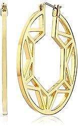 Trina Turk The Modernist Gold-Plated Open-Work Hoop Earrings
