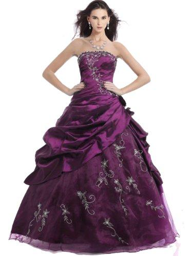 Faironly M37 Strapless Prom Cheap Dresses Stock (Xxl, Purple)
