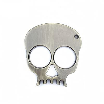 Partstock(TM) Metal Skull Keychain Keyrings Self Defense Emergency Survival Tool fits perfectly in the palm of your hand. by Partstock